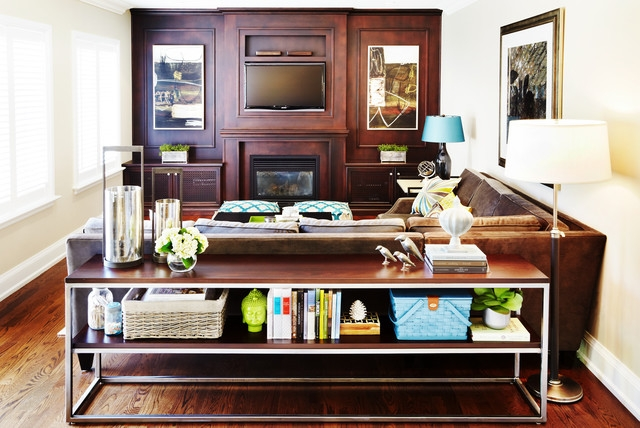Inspiration about Behind Sofa Console Table Houzz Intended For Sofa Back Console (#9 of 15)