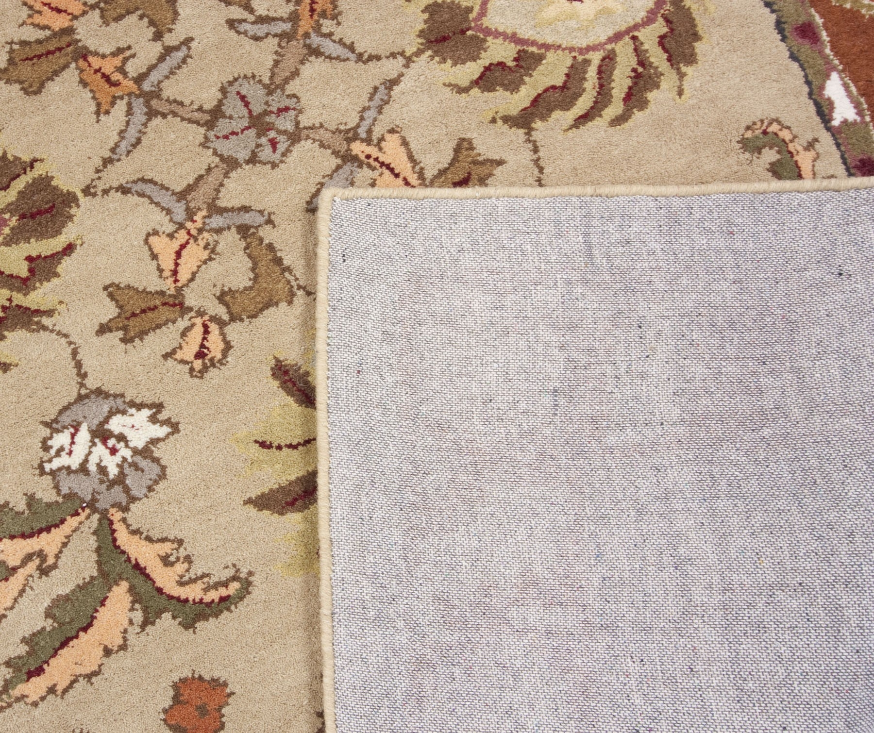 Beige Salmon Green Brown Hand Tufted Wool Area Rug Traditional Regarding Hand Tufted Wool Area Rugs (#1 of 15)