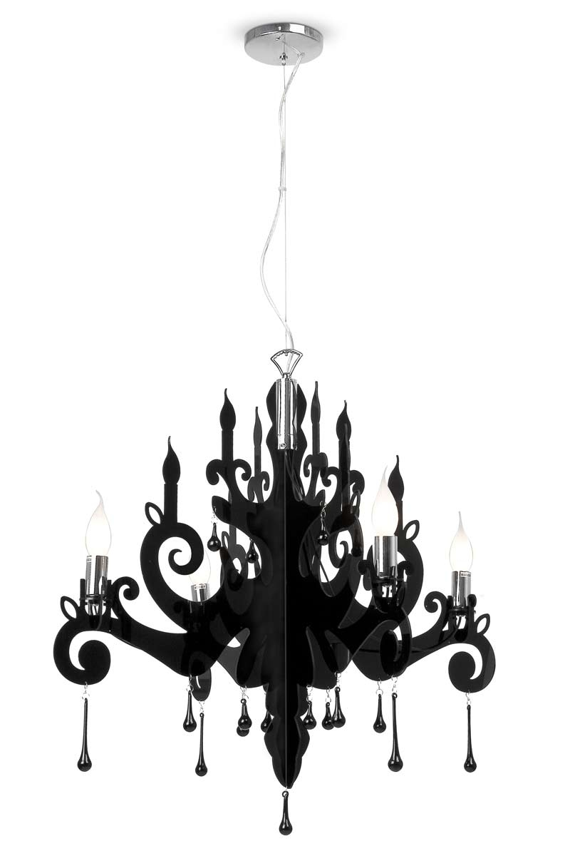 Berg Baroque Black Chandelier Faro Rf 10030055 Regarding Baroque Chandelier (#7 of 12)