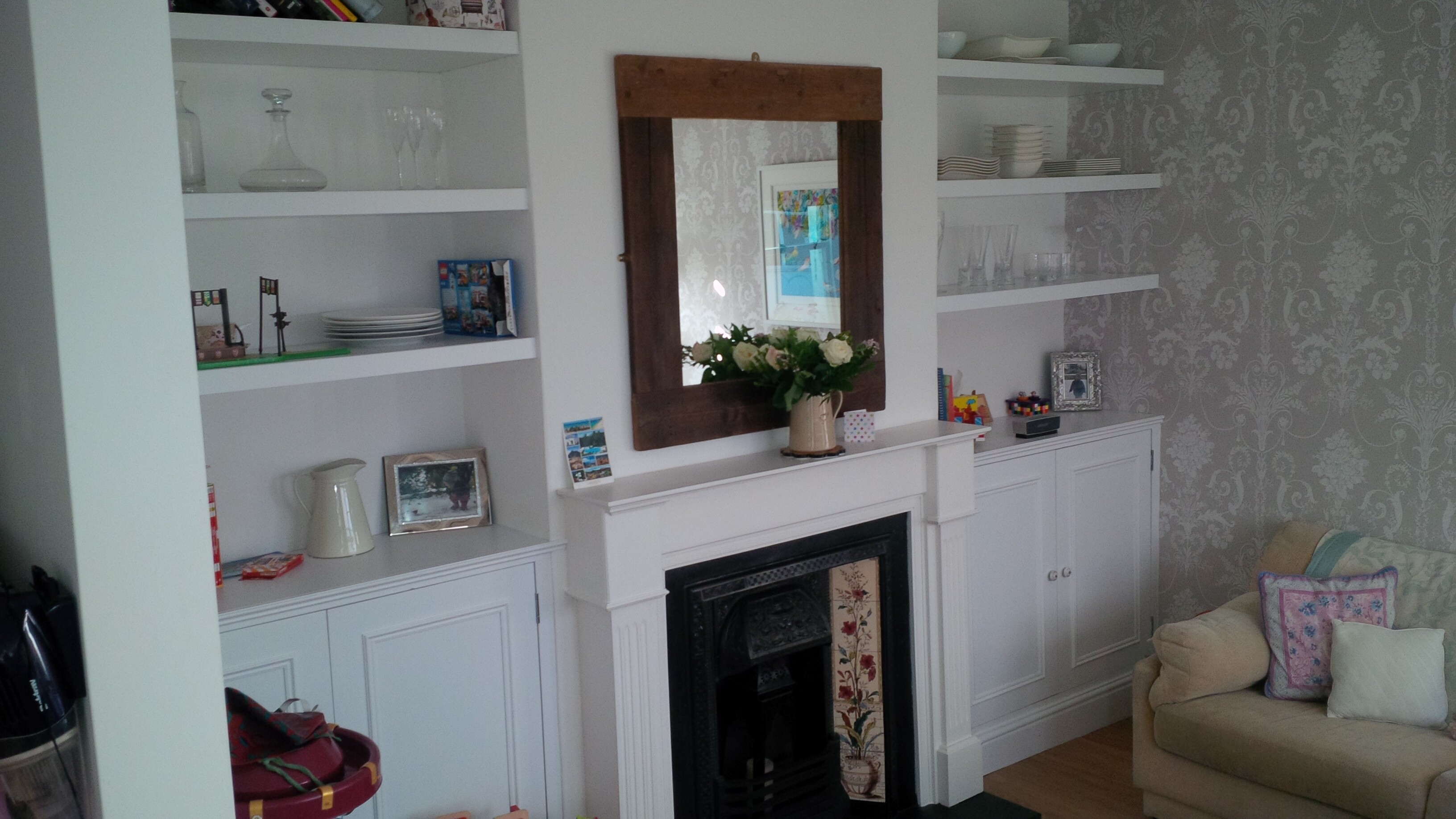 Bespoke Alcove Cupboards With Floating Shelving Surrey Joinery With Regard To Bespoke Cupboards (#1 of 12)