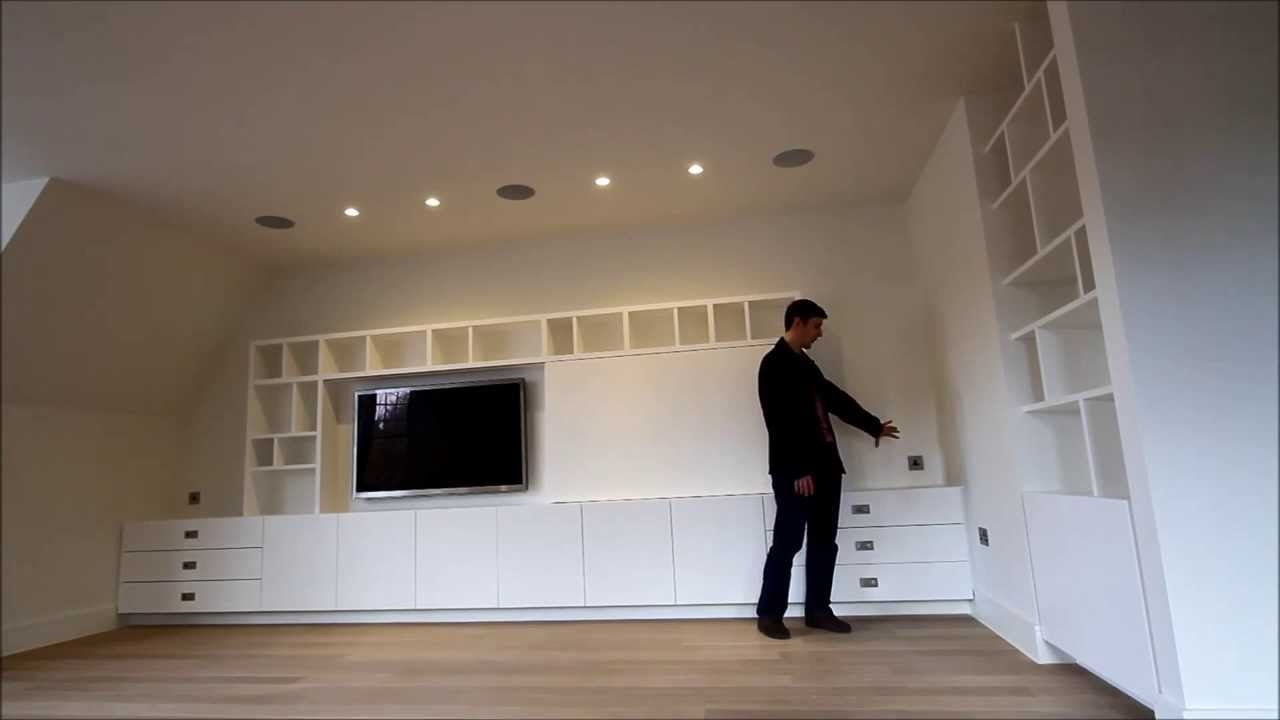 Bespoke Built In Media Tv Unit Uk Youtube Within Bespoke Tv Stands (View 1 of 15)