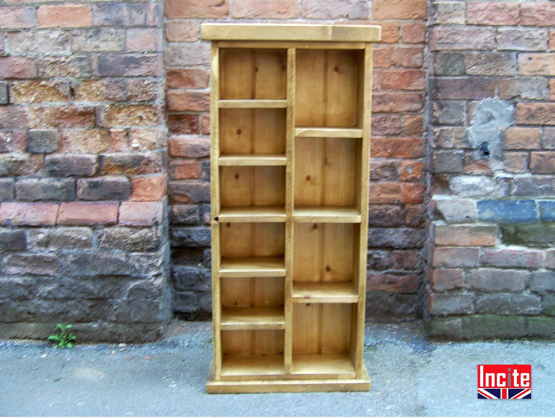 Bespoke Handmade Rustic Chunky Plank Pine Dvd Cd Units Pertaining To Bespoke Cd Storage (View 1 of 15)