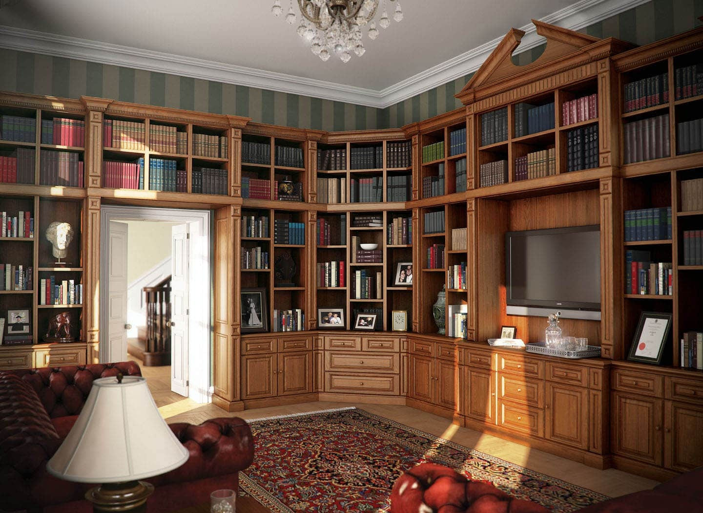 Bespoke Library Bookcases Designed For You Strachan Regarding Bespoke Library (#3 of 15)