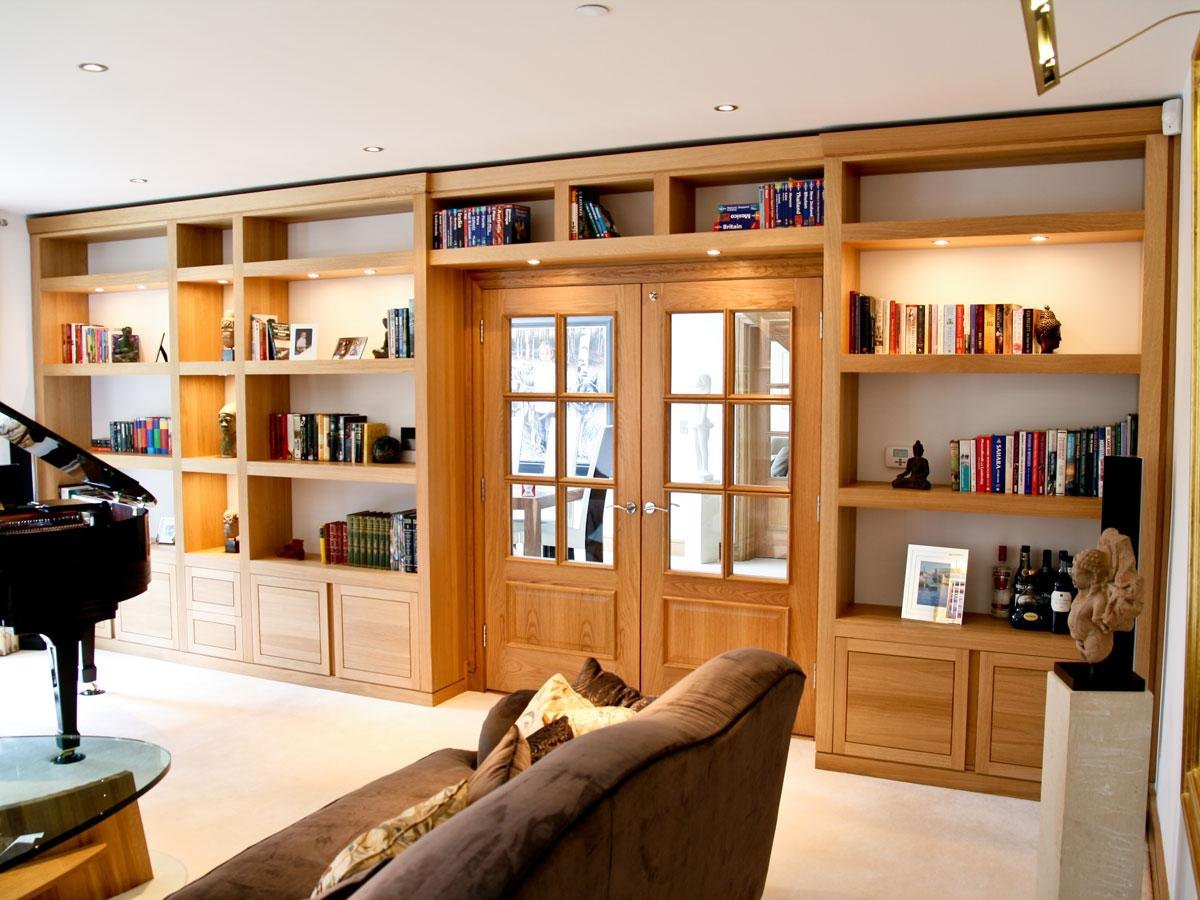 Bespoke Library Designs In Solid Oak Walnut Within Bespoke Library (#4 of 15)