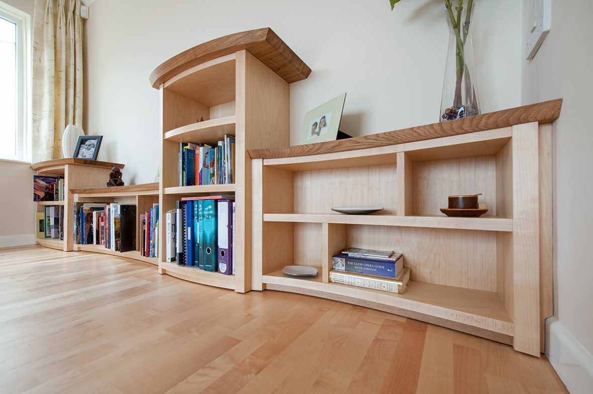 Bespoke Shelving Made From Oak And Maple Coverack The Lizard With Regard To Bespoke Shelves (#7 of 15)
