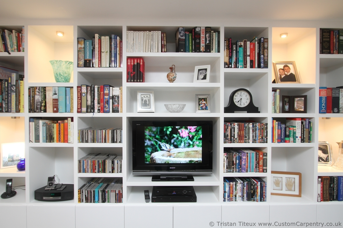 Popular Photo of Custom Made Shelving Units