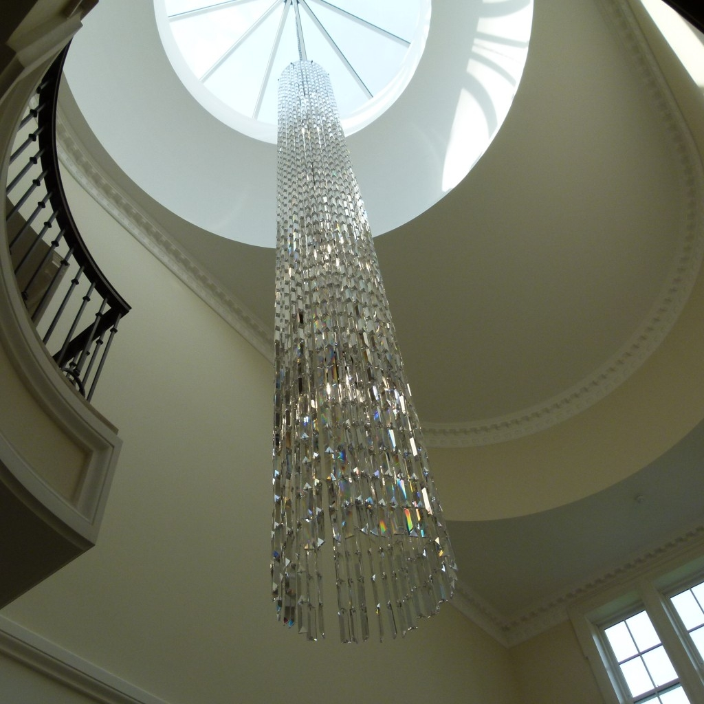 Bespoke Stairwell Chandelier More Pics The Lighting Centre Within Stairwell Chandelier (#5 of 12)