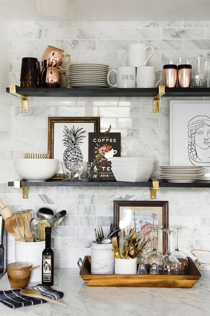 Popular Photo of Kitchen Wall Shelves
