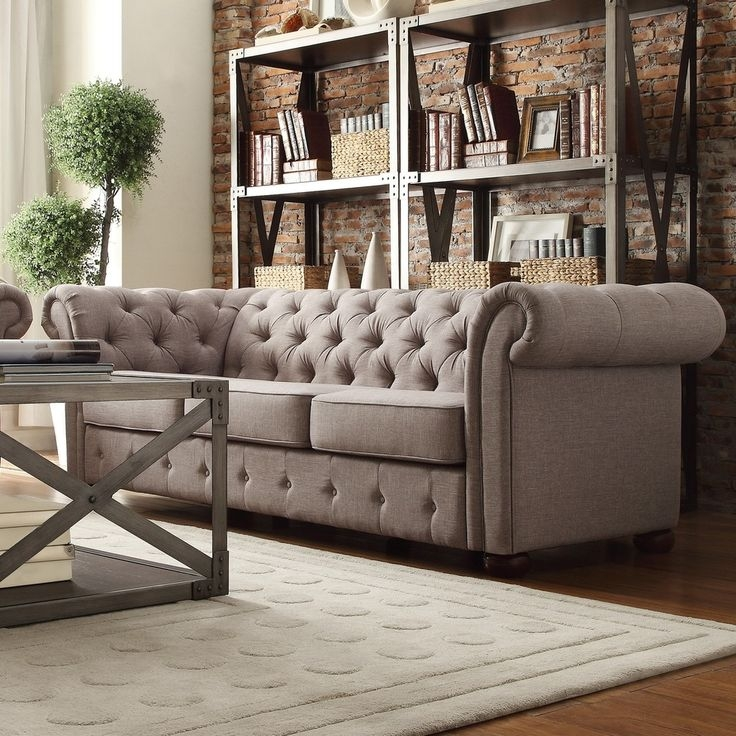 Best 20 Chesterfield Sofas Ideas On Pinterest Chesterfield For Tufted Linen Sofas (#1 of 15)