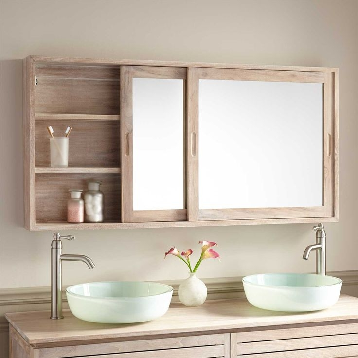 Popular Photo of Bathroom Mirror Cupboards