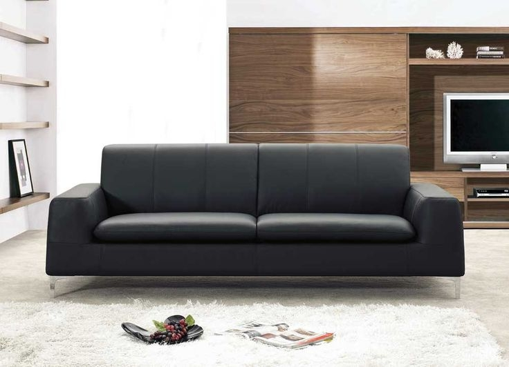 Best 25 Black Leather Sofas Ideas On Pinterest Black Leather Inside Contemporary Black Leather Sofas (View 6 of 15)