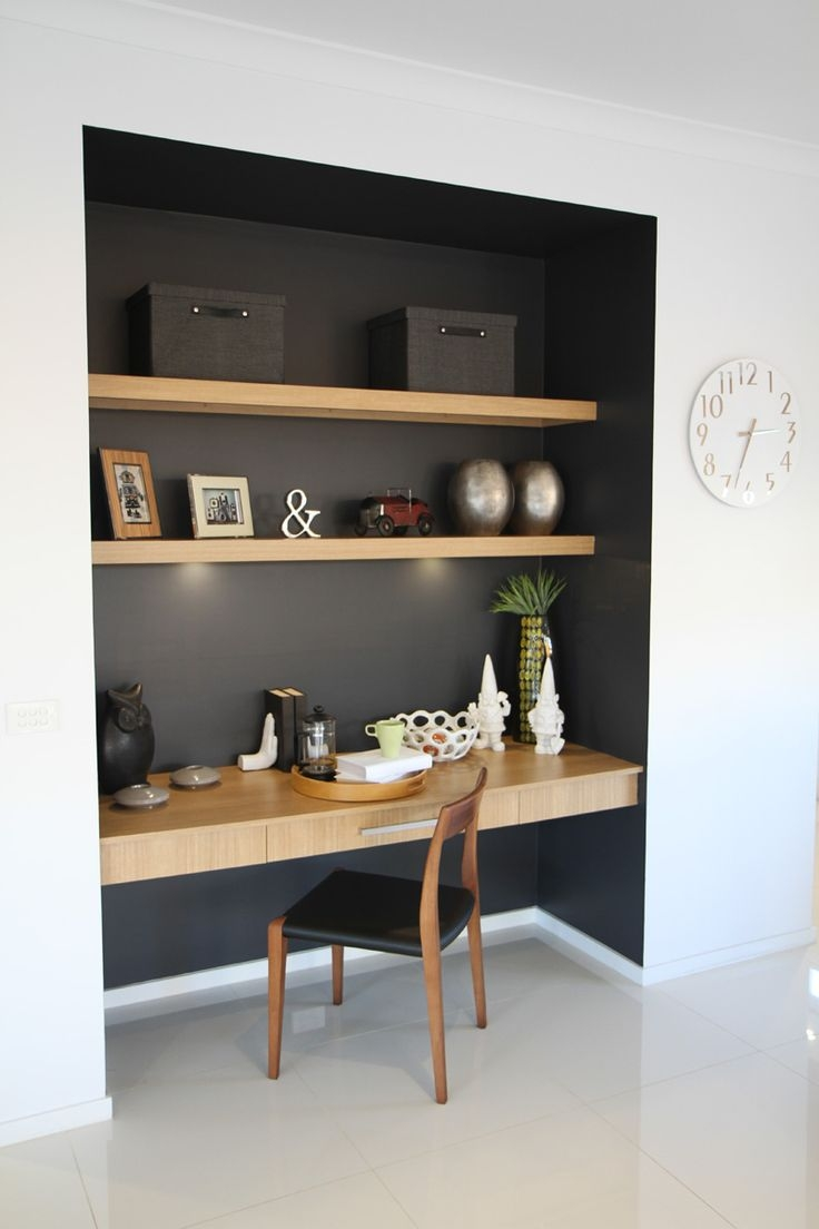 Best 25 Built In Desk Ideas On Pinterest Pertaining To Built In Study Furniture (#1 of 15)