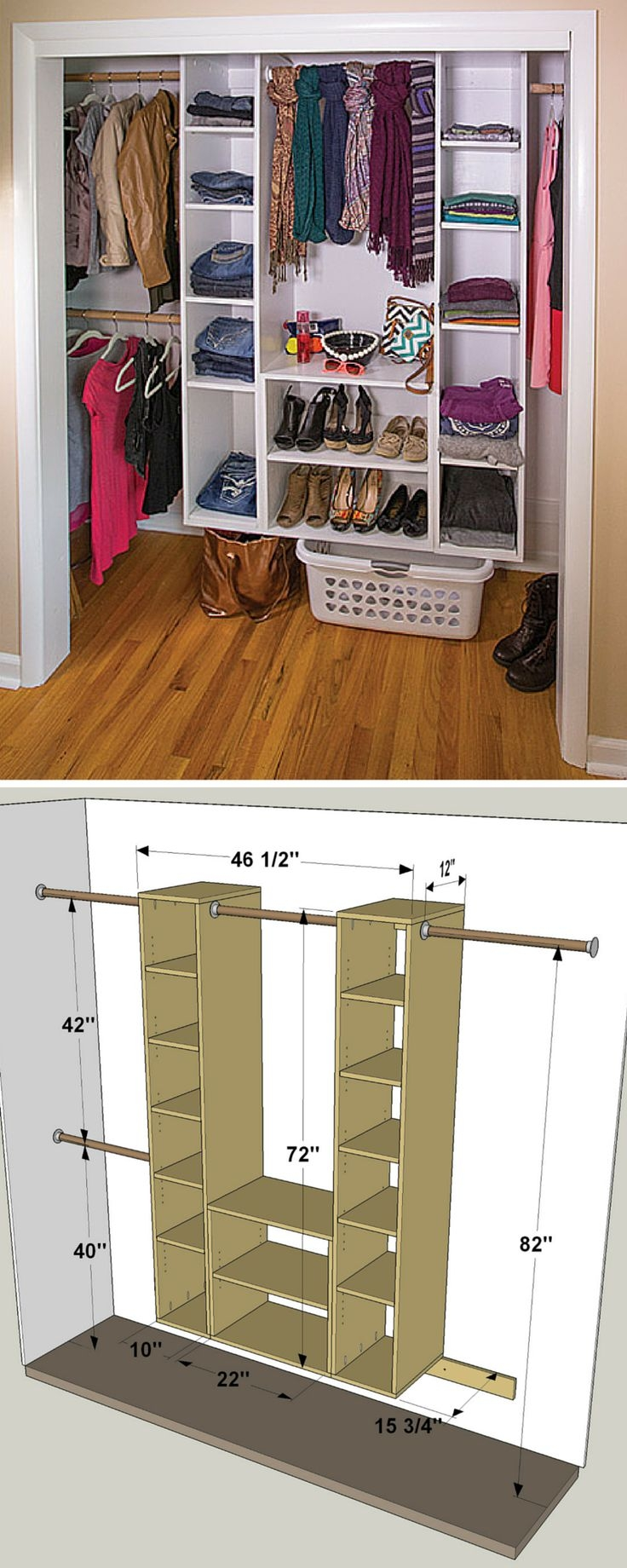 Best 25 Closet Shelving Ideas On Pinterest Throughout Built In Cupboard Shelving (View 4 of 15)
