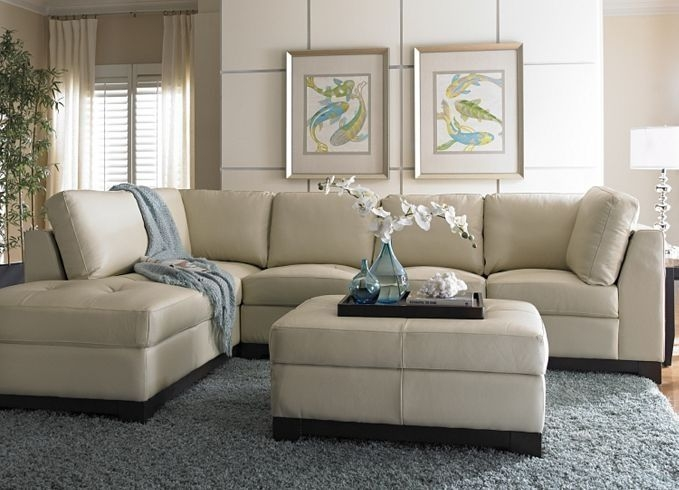 Popular Photo of Cream Sectional Leather Sofas