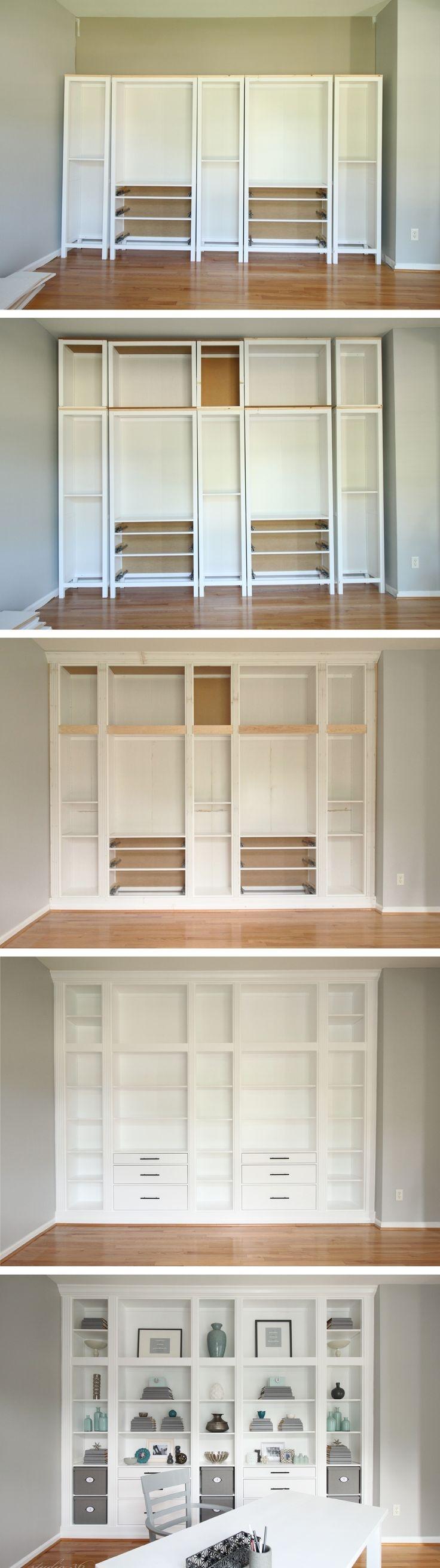 15 ideas of custom made bookshelf for Built in nook shelves
