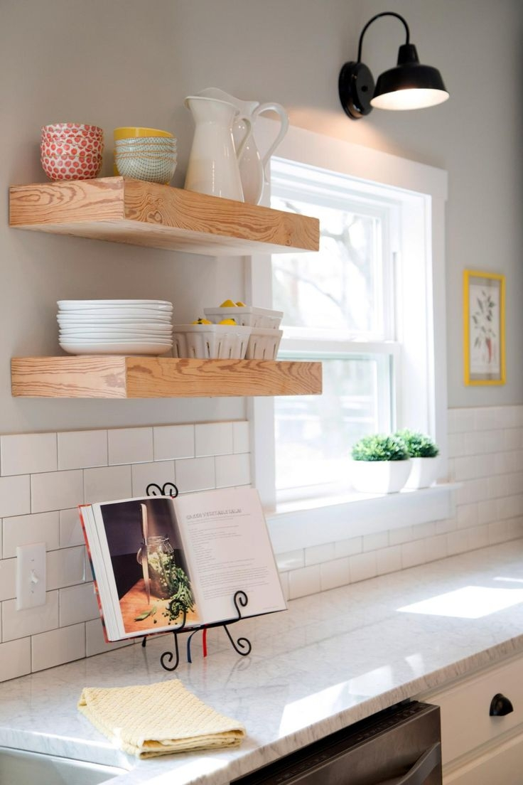 Best 25 Floating Shelves Kitchen Ideas On Pinterest Open Throughout Kitchen Shelves (#2 of 12)