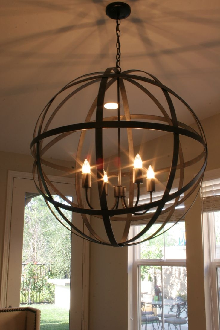 Best 25 Globe Chandelier Ideas That You Will Like On Pinterest Intended For Large Globe Chandelier (#2 of 12)
