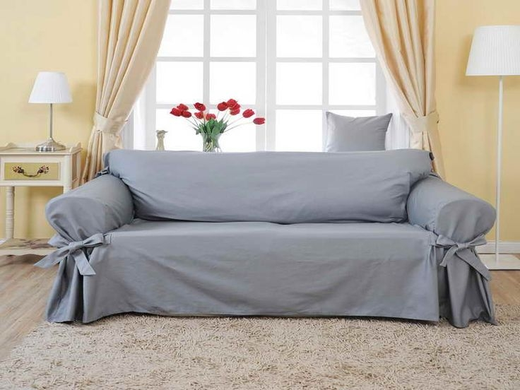 Best 25 Grey Couch Covers Ideas On Pinterest Couch Covers Within Slipcovers Sofas (#3 of 15)