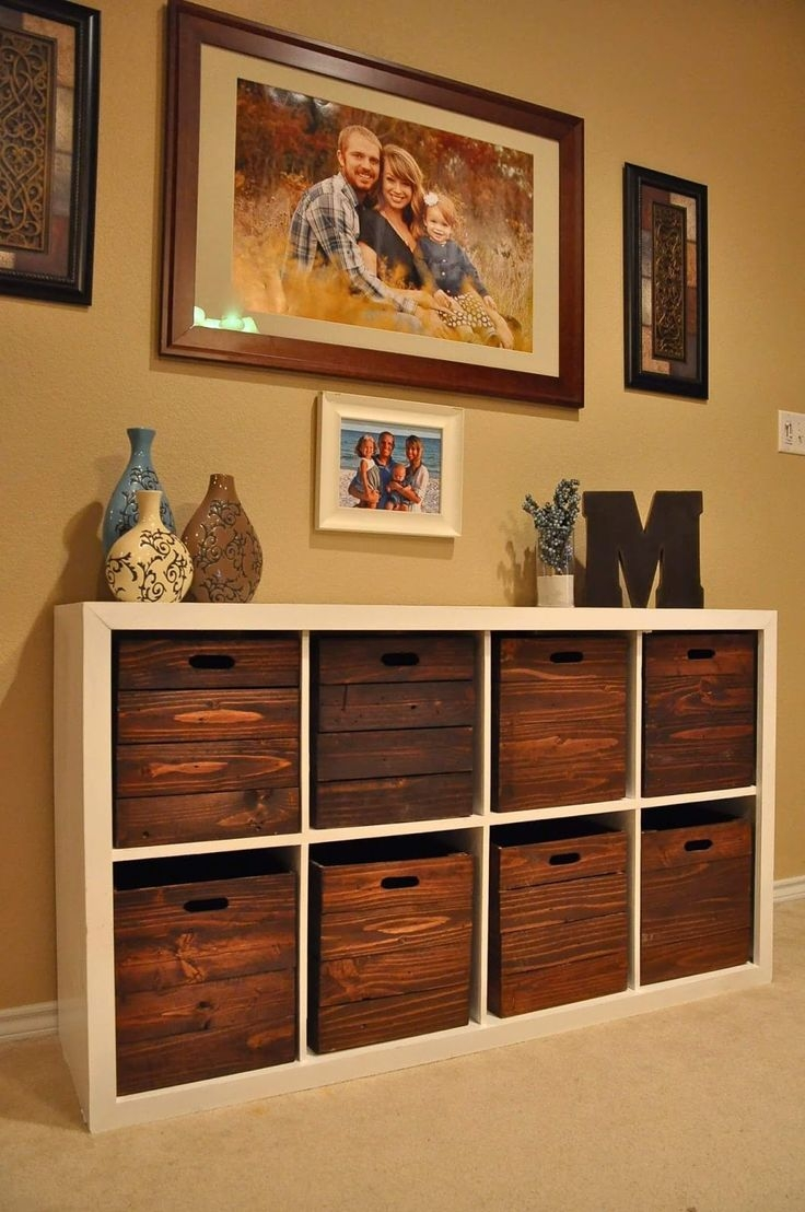 Living room wall storage