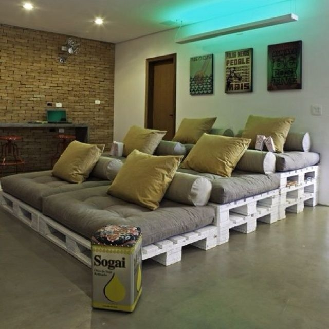 Best 25 Pallet Movie Theaters Ideas On Pinterest Pallet Pertaining To Theater Room Sofas (#2 of 15)