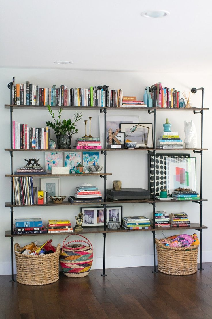 Best 25 Pipe Bookshelf Ideas On Pinterest Diy Industrial Inside Book Shelving Systems (#6 of 15)
