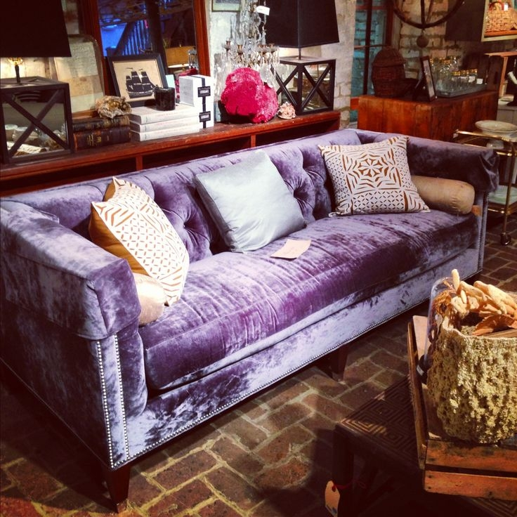 Best 25 Purple Sofa Ideas On Pinterest Purple Sofa Inspiration For Velvet Purple Sofas (#3 of 15)