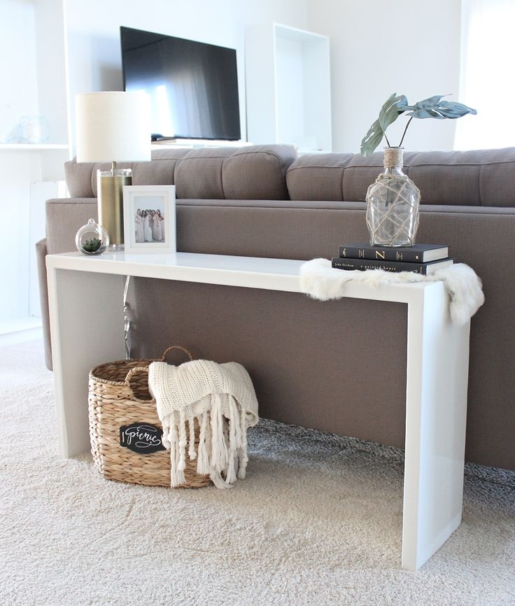 Best 25 Table Behind Couch Ideas On Pinterest Behind Sofa Table For Sofa Back Console (#5 of 15)