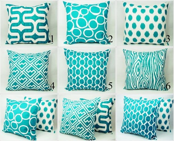 Best 25 Turquoise Pillows Ideas On Pinterest Turquoise Throw Regarding Turquoise Sofa Covers (#4 of 15)