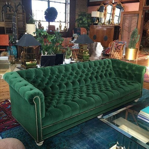 Best 25 Velvet Chesterfield Sofa Ideas On Pinterest With Etsy Sofas (#6 of 15)