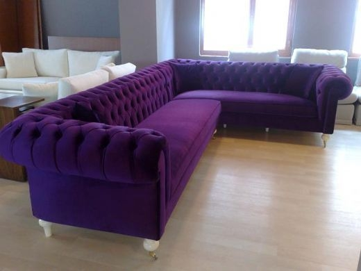 Best 25 Velvet Chesterfield Sofa Ideas On Pinterest With Velvet Purple Sofas (#5 of 15)