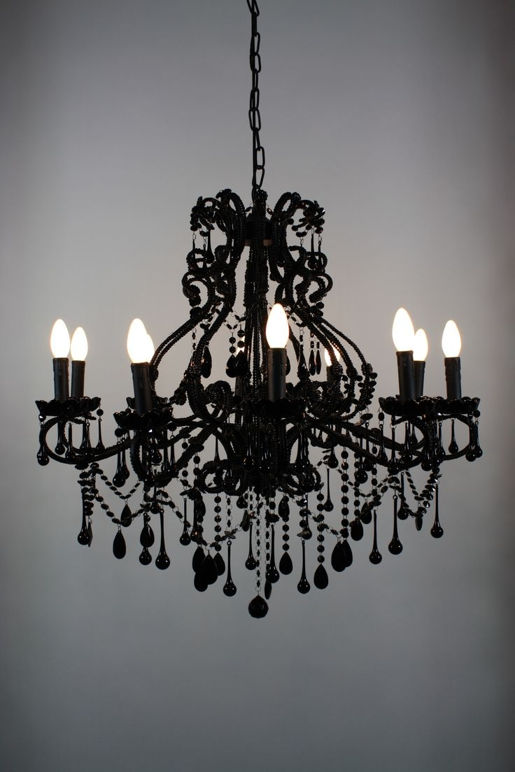 Popular Photo of Vintage Black Chandelier