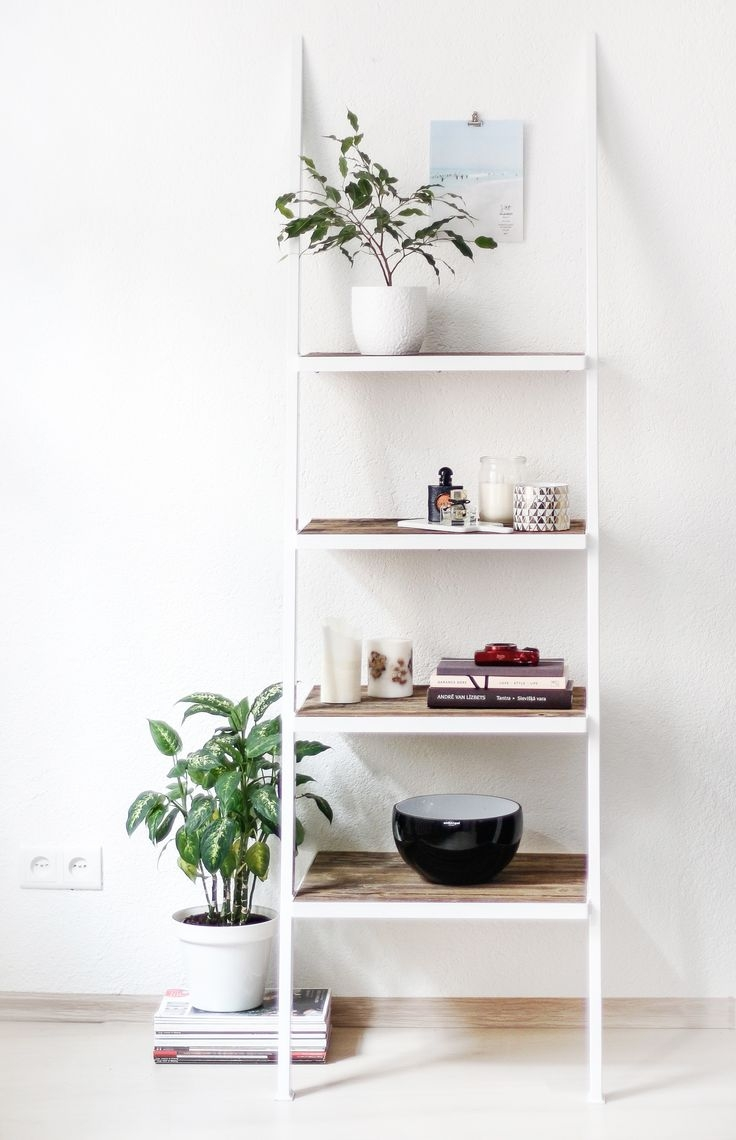 Popular Photo of White Ladder Shelf