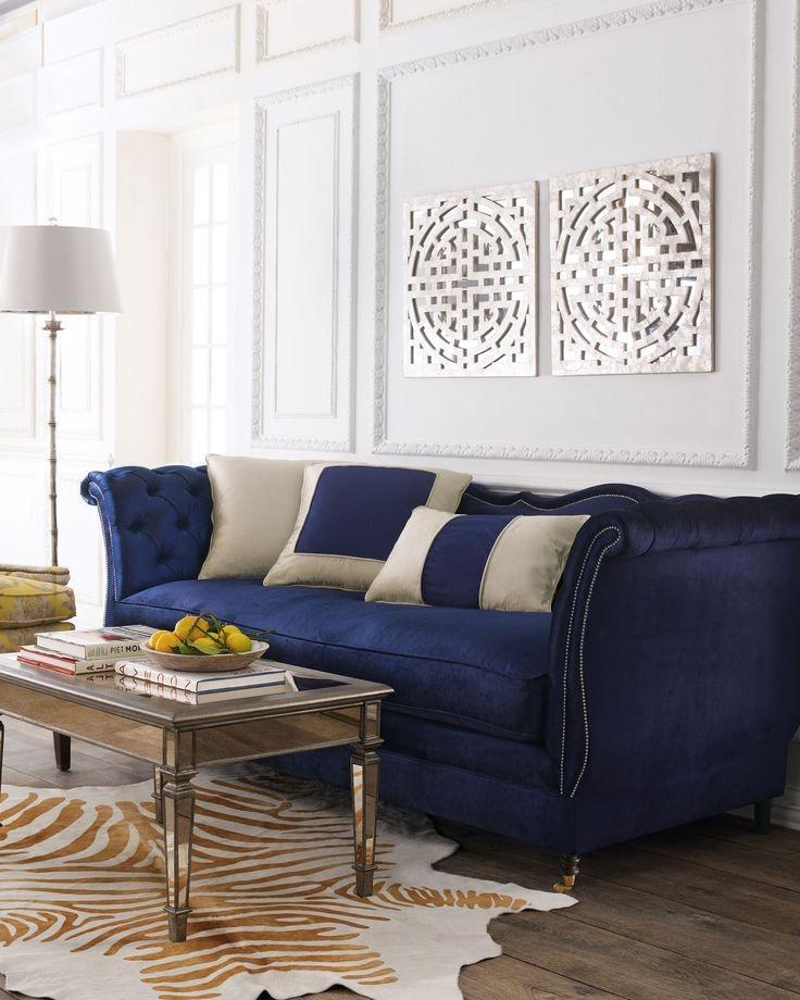 Best Blue Velvet Sofas Blog Roger Chris Within Blue Tufted Sofas (#4 of 15)
