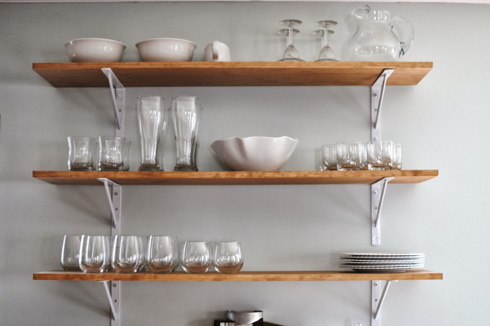 Best Kitchen Wall Shelves Contemporary Aisling Aisling In Kitchen Wall Shelves (#5 of 12)