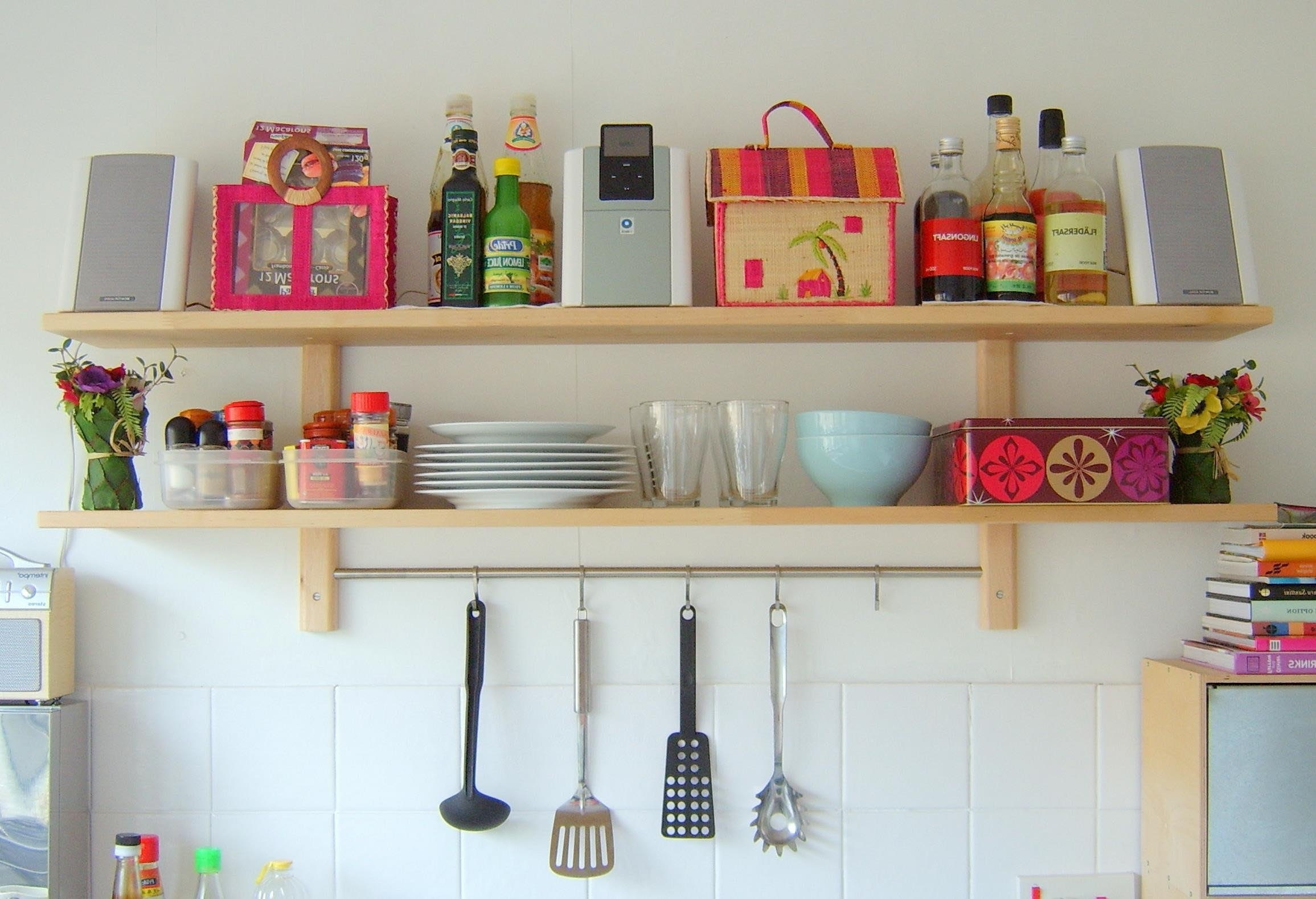 Best Kitchen Wall Shelves Contemporary Aisling Aisling Pertaining To Kitchen Wall Shelves (#7 of 12)