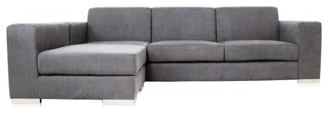 Best Long Modern Sofa With Long Island Sectional Sofa Grey Fabric With Regard To Long Modern Sofas (#4 of 15)