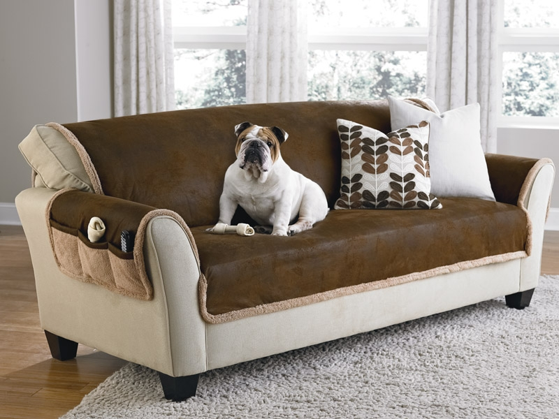 Best Sofa Covers For Leather Couch Pertaining To Slipcover For Leather Sofas (View 1 of 15)