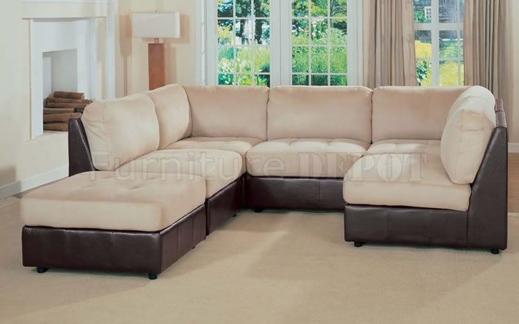 Best Two Tone Leather Sofa 2106 Modern Two Tone Leather Sofa Intended For Two Tone Sofas (View 13 of 15)