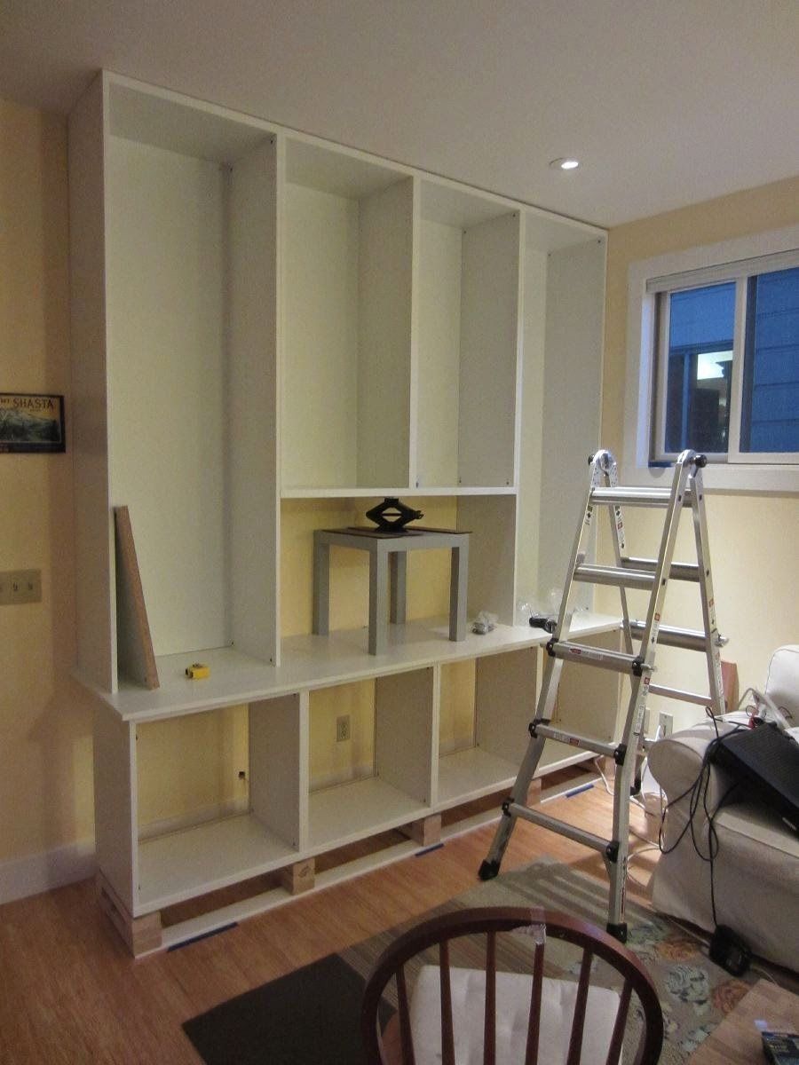 Besta Built In Family Room Bookshelf And Tv Unit Ikea Hackers Regarding Tv Bookshelf (#2 of 15)