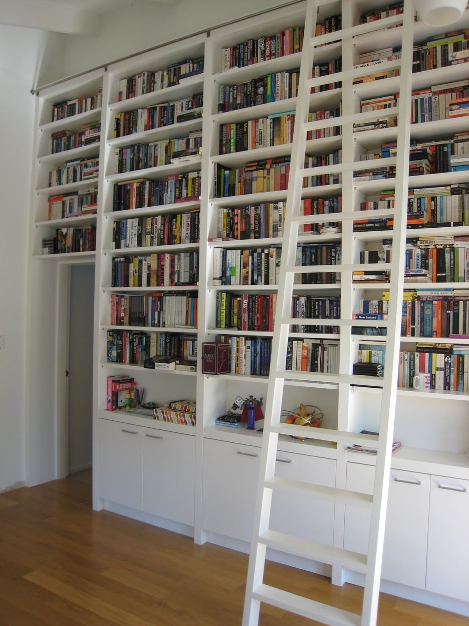 Big Library Ladder Ikea Book Cases Plan Ideas Narrow Bookcases Intended For White Library Bookcase (#2 of 15)