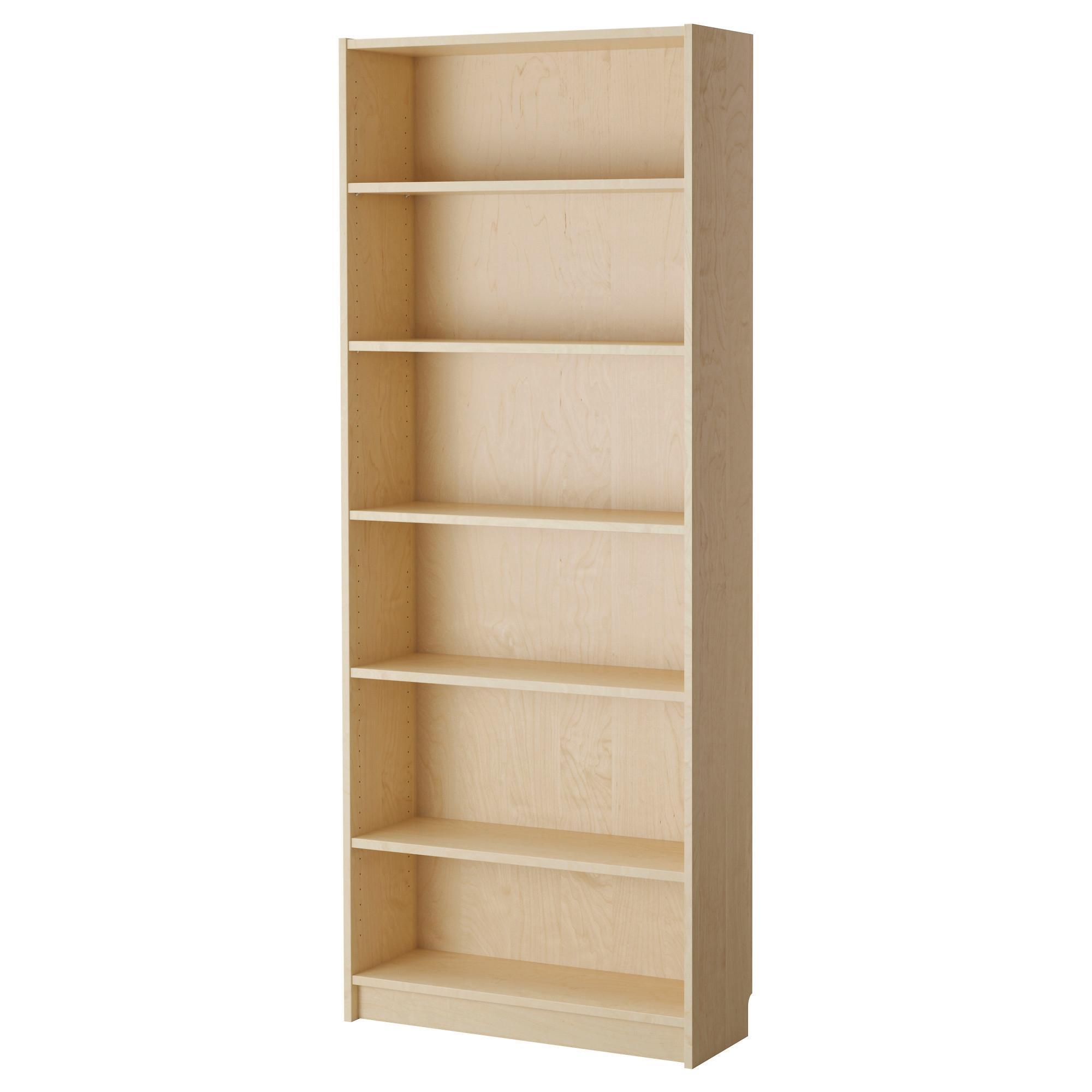 Billy Bookcase Birch Veneer Ikea With Bookcase Flat Pack (#1 of 15)