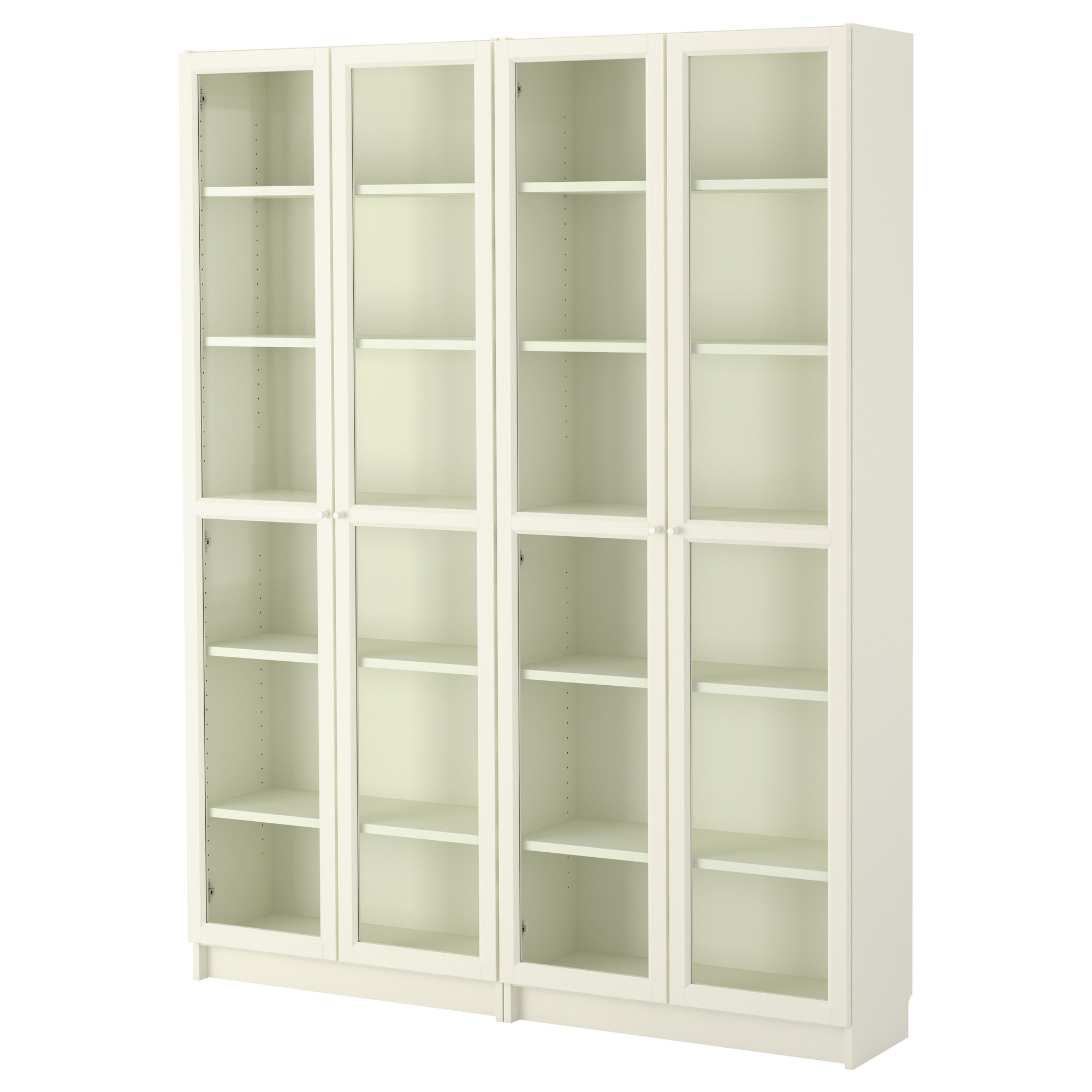 Billy Oxberg Bookcase Whiteglass 63×79 12×11 Ikea Pertaining To White Bookcase (#4 of 15)