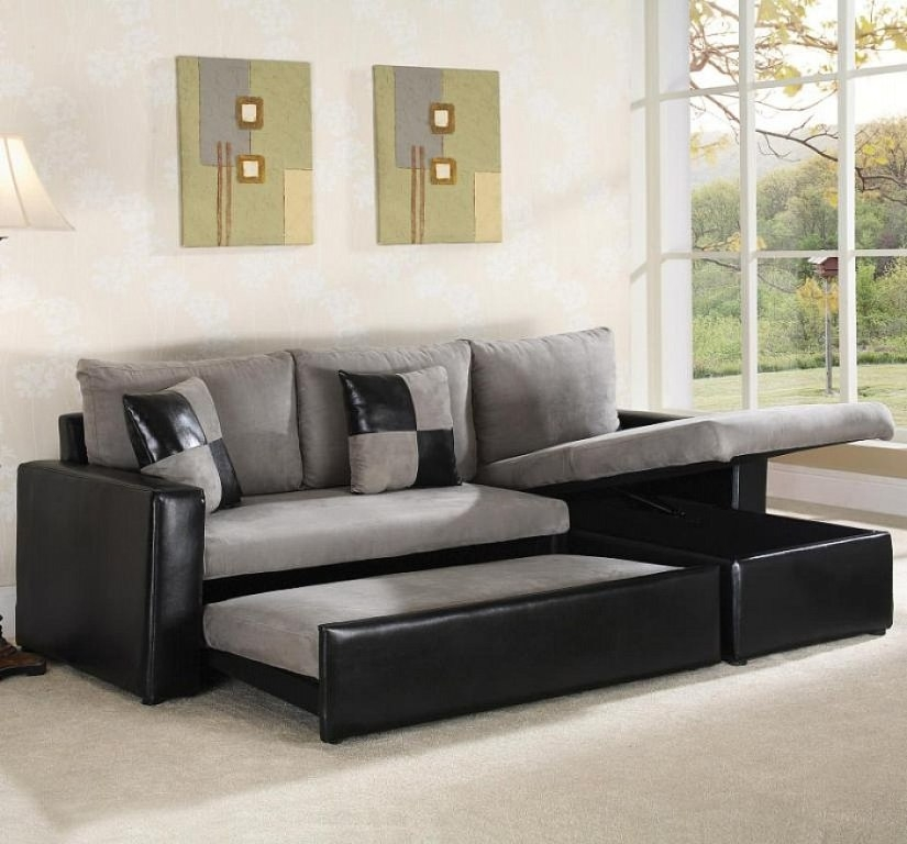 Black And Grey Sectional Sleeper Sofa S3net Sectional Sofas With Black Leather Sectional Sleeper Sofas (#4 of 15)