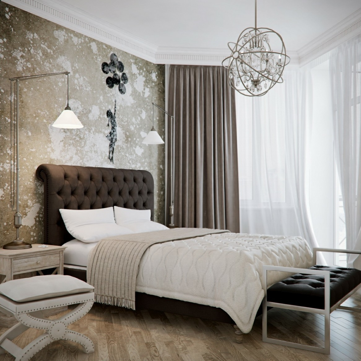 Black Chandelier For Bedroom Shanti Designs Within Black Chandelier Bedroom (#7 of 12)