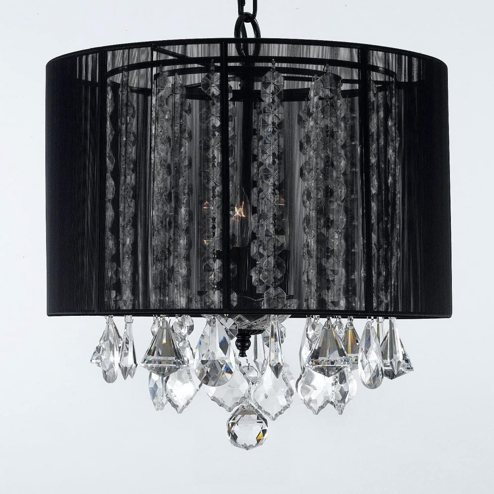 Black Crystal Chandelier Engageri With Regard To Murano Chandelier Replica (#1 of 12)