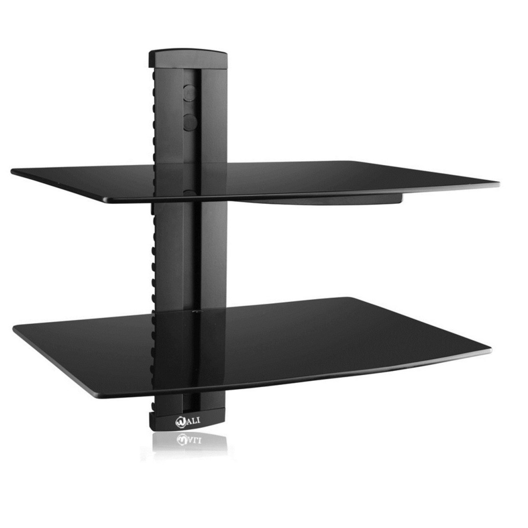 12 Best Collection Of Floating Black Glass Shelves