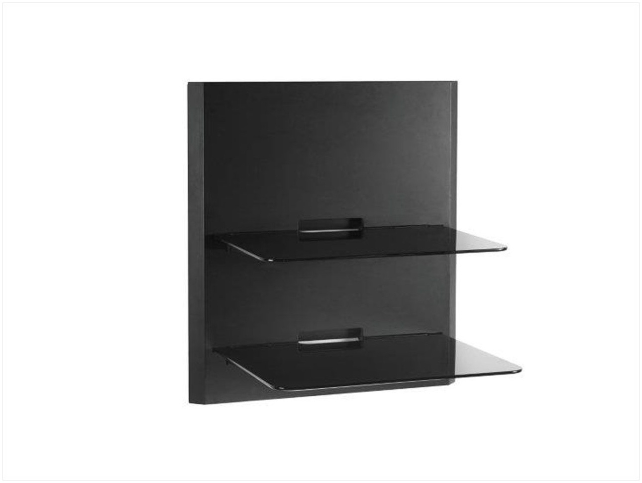 Black Glass Corner Wall Shelves Vonhaus 1x Black Floating Shelf For Black Glass Shelves Wall Mounted (#3 of 15)