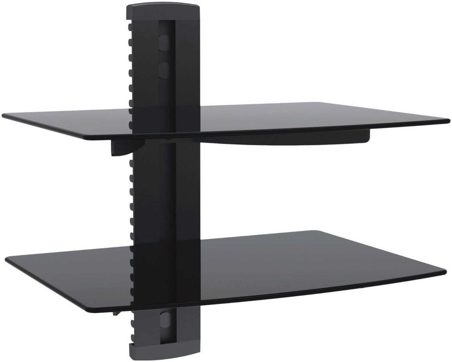 Popular Photo of Black Glass Floating Shelf