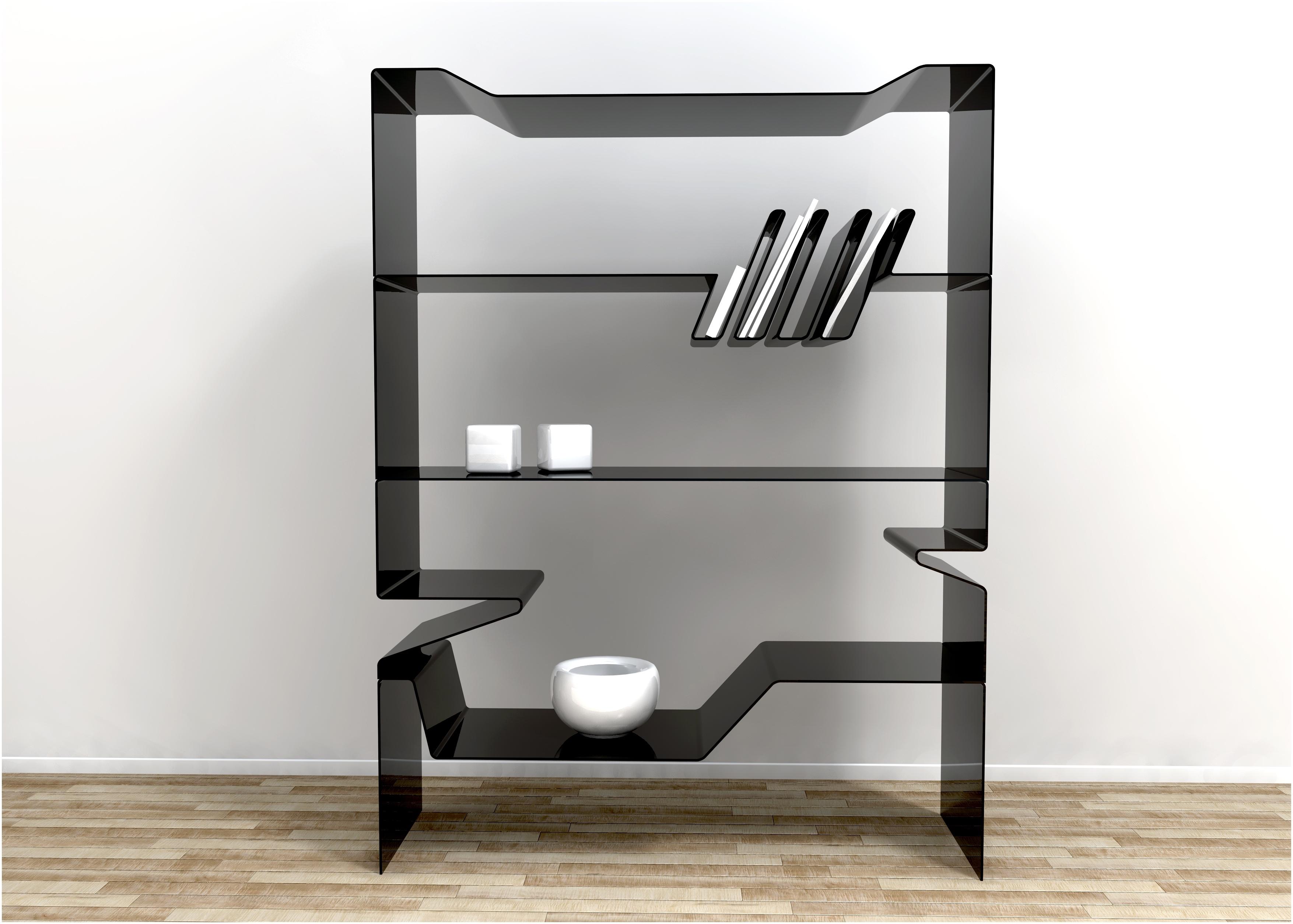 Black Glass Wall Shelf Floating Corner Shelves Floating Bookcase Intended For Floating Black Glass Shelf (#4 of 12)