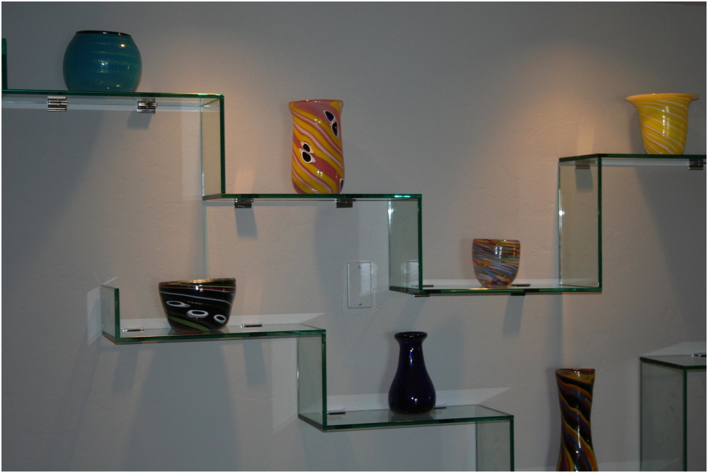 Black Glass Wall Shelf Most Seen Ideas In The Black Glass Shelves Throughout Wall Mounted Black Glass Shelves (#6 of 15)